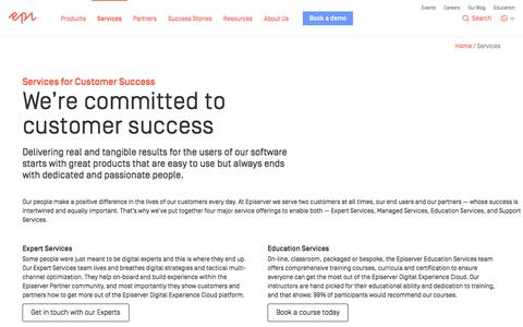 Services for Customer Success –Managed Services, Training and Support