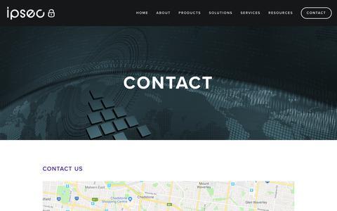 Screenshot of Contact Page ipsec.com.au - Contact — IPSec - captured Oct. 2, 2018