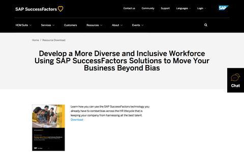 Develop a More Diverse and Inclusive Workforce Using SAP SuccessFactors Solutions to Move Your Business Beyond Bias | SuccessFactors