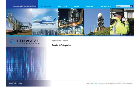 Screenshot of Products Page linwave.co.uk - Product Categories - - captured Dec. 15, 2018
