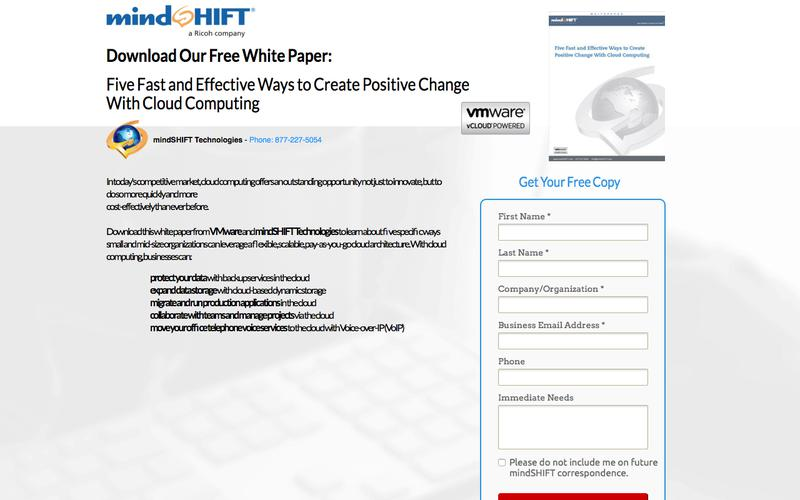 Whitepaper - Five Fast and Effective Ways to Create Positive Change With Cloud Computing