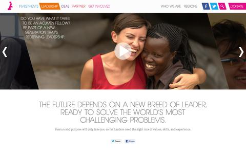 Screenshot of Team Page acumen.org - Acumen Leaders are a New Breed of Game-Changers - captured Dec. 2, 2015