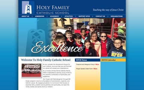 Screenshot of Home Page hfcsfw.org - Holy Family Catholic School | Private Catholic School for PreK, K-8 | Fort Worth, TX 76107 - captured June 16, 2016