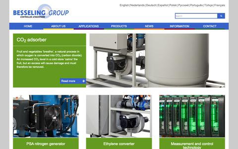 Screenshot of Products Page besseling-group.com - Besseling | The art of storage - captured Nov. 6, 2018
