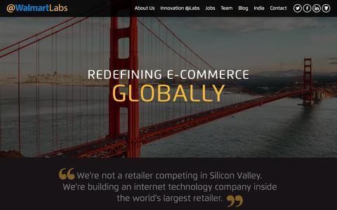 Screenshot of Home Page walmartlabs.com - Home | @WalmartLabs - captured Feb. 2, 2016