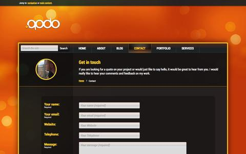 Screenshot of Contact Page qodo.co.uk - Get in touch | Contact me • Qodo Ltd - captured Sept. 23, 2014