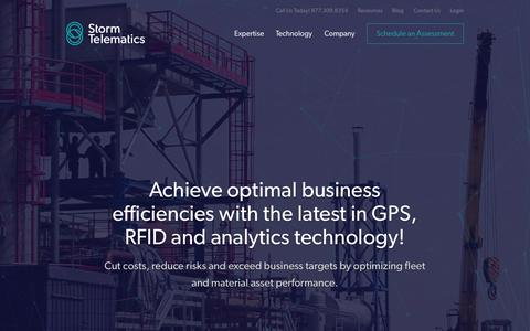 Screenshot of Home Page stormgps.com - Fleet Management Solutions & GPS Fleet Tracking   Storm Telematics - captured Aug. 15, 2015