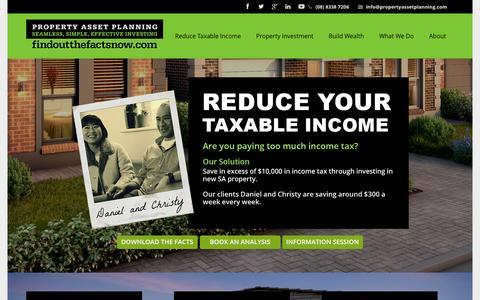 Screenshot of Home Page propertyassetplanning.com - Property Asset Planning – Property Investment Made EasyProperty Asset Planning: Making Property Investment Easy - captured Sept. 30, 2014