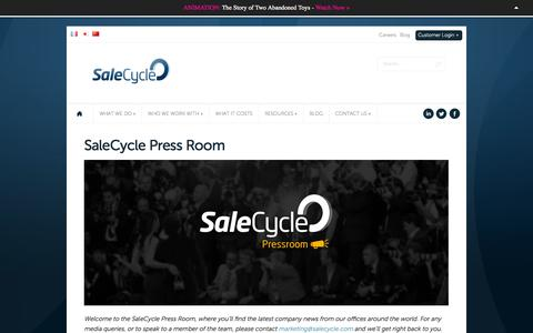 Screenshot of Press Page salecycle.com - SaleCycle Press Room - captured Sept. 18, 2014