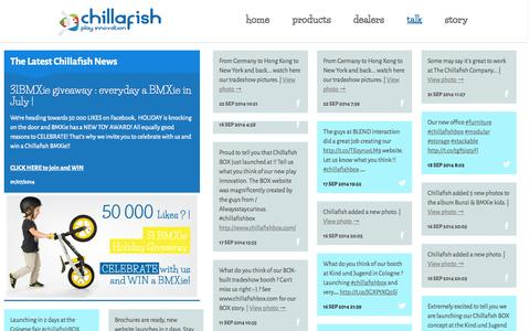 Screenshot of Press Page chillafish.com - News | Chillafish - captured Sept. 24, 2014