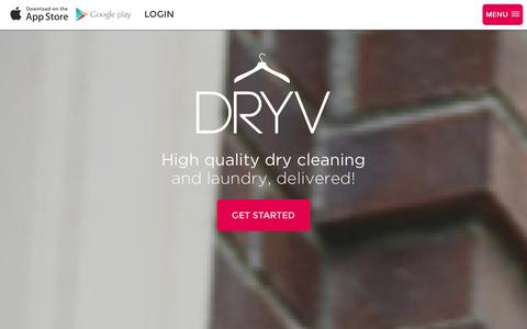 Screenshot of Home Page dryv.com - Laundry Service and Dry Cleaners in Chicago - On Demand Laundry | DRYV - captured Sept. 30, 2014