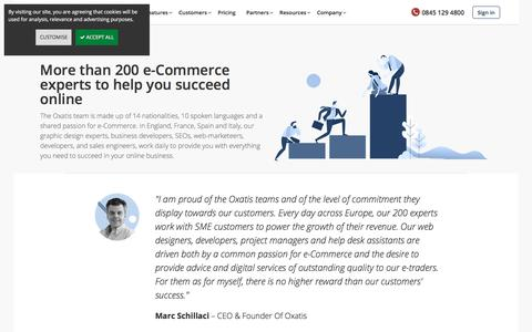 Screenshot of Team Page oxatis.co.uk - e-Commerce Expert Team - Meet our e-Commerce Experts | Oxatis - captured Sept. 24, 2018