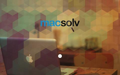 Screenshot of Home Page macsolv.com - Macsolv - Professional Mac & iOS Consulting - captured Feb. 2, 2016