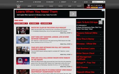 Screenshot of Press Page wwe.com - WWE News, Wrestling News and Wrestling Rumors | WWE.com - captured Dec. 15, 2015