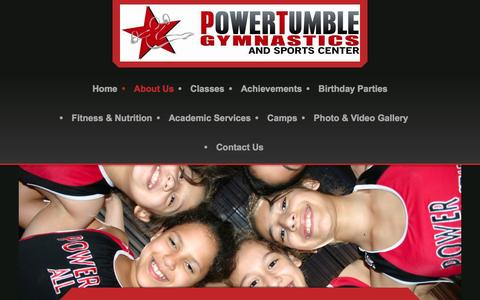 Screenshot of About Page powertumblegymnastics.com - Power Tumble Gymnastics - About Us - captured Dec. 10, 2015