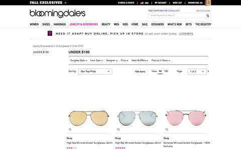 Sunglasses Under $100 - Bloomingdale's