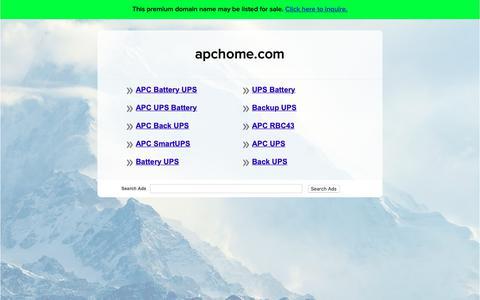 Screenshot of Home Page apchome.com - apchome.com - captured Sept. 28, 2018