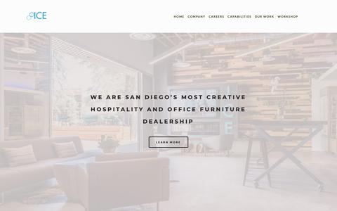 Screenshot of Home Page icesd.com - INNOVATIVE COMMERCIAL ENVIRONMENTS - captured Jan. 11, 2019
