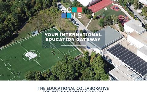 Screenshot of Home Page ecis.org - Home Page - Educational Collaborative for International Schools (ECIS) - captured Sept. 29, 2018