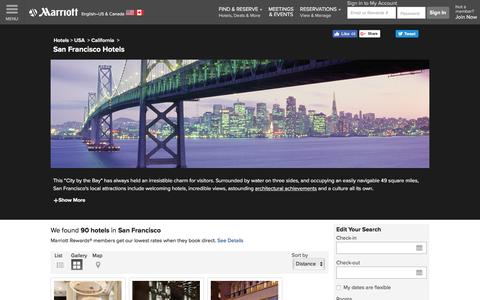 Find San Francisco Hotels by Marriott