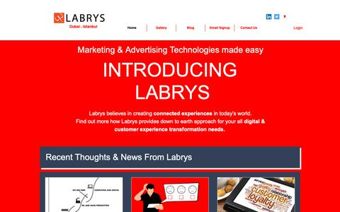 Screenshot of Home Page labrys.com.tr - Home | Labrys Consulting - captured March 24, 2019