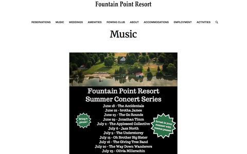 Music – Fountain Point Resort