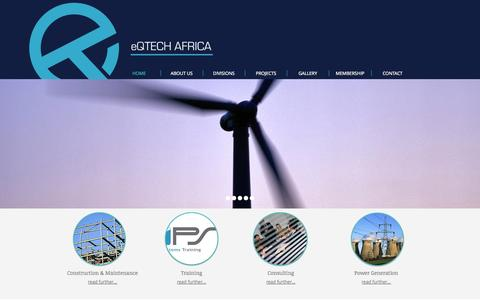 Screenshot of Home Page eqtech.co.za - Eqtech Africa | Electrical Engineering Firm | Cape Town | South Africa - captured Oct. 1, 2014