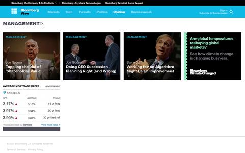 Screenshot of Team Page bloomberg.com - Management - Bloomberg View - captured May 7, 2017
