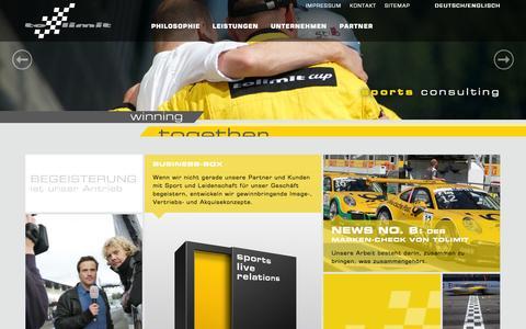 Screenshot of Home Page tolimit.de - tolimit - Start - captured Oct. 7, 2014