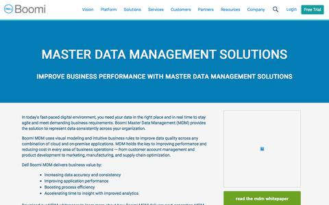Master Data Management Solutions - Dell Boomi