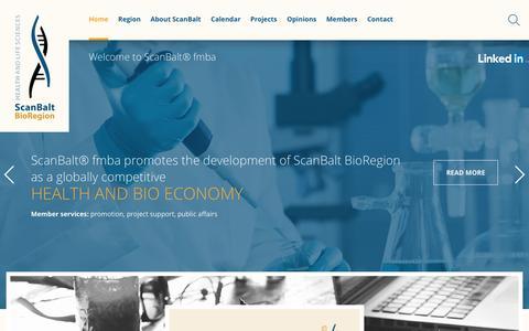Screenshot of Home Page scanbalt.org - Home - Scanbalt - captured July 22, 2016
