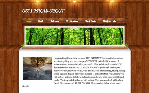 Screenshot of Home Page alliknowabout.com - ALL I KNOW ABOUT - Home - captured Oct. 4, 2014