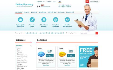 Screenshot of Home Page official-medicines.com - Buy Viagra online at official-medicines.com - captured Jan. 26, 2015