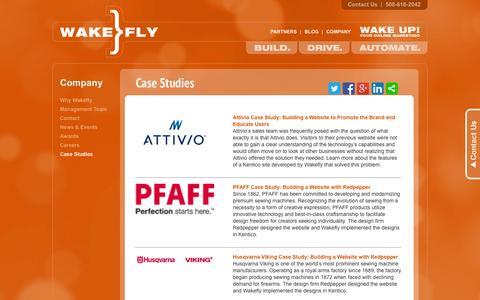 Screenshot of Case Studies Page wakefly.com - Case Studies Wakefly - captured Sept. 23, 2014