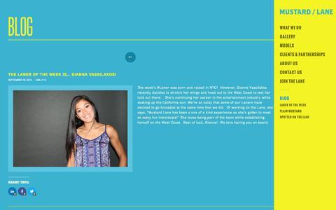 Screenshot of Blog mustardlane.com - Blog | Mustard Lane | Promotional Models / Brand Ambassadors / Event Staff - captured Oct. 7, 2014