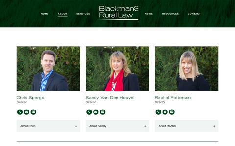 Screenshot of Team Page rurallaw.co.nz - Team - Blackman Spargo - captured Oct. 6, 2018