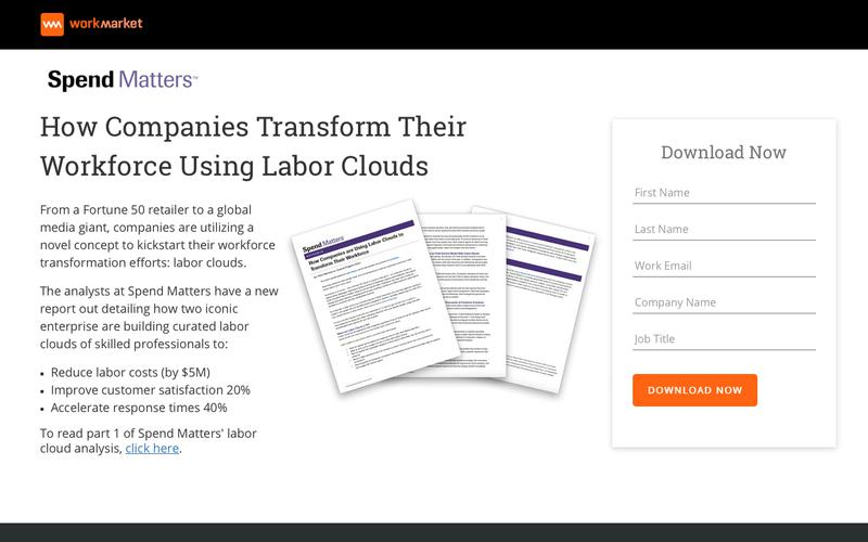 Spend Matters: Using Labor Clouds To Transform Your Workforce