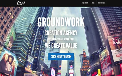 Screenshot of Home Page groundworkca.com - GroundWork Creation Agency - captured Sept. 30, 2014