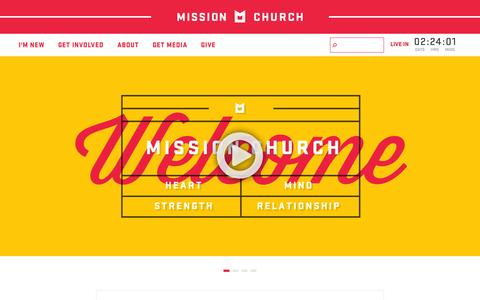 Screenshot of Home Page missionchurchsa.org - Mission Church - Jesus and People : Mission Church - captured Oct. 9, 2014