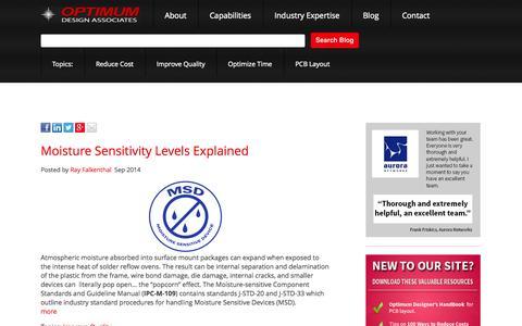 Screenshot of Blog optimumdesign.com - Optimum Design Associates Blog - captured Oct. 9, 2014