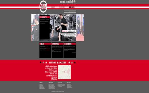 Screenshot of Services Page armtrainingsystems.com - SERVICES : ARM TRAINING SYSTEMS - captured Sept. 30, 2014