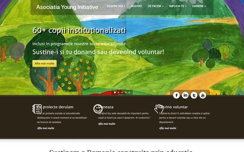 Screenshot of Home Page younginitiative.org - Acasa | Asociatia Young Initiative - captured Oct. 4, 2014