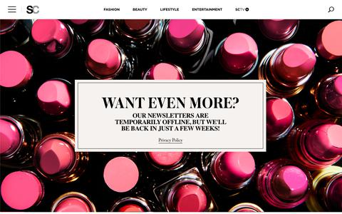 Screenshot of Signup Page stylecaster.com - Sign Up for StyleCaster's Newsletter, StyleCaster Daily! | StyleCaster - captured Nov. 7, 2018