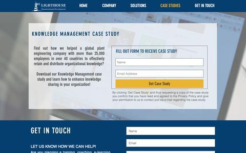 Screenshot of Case Studies Page lighthouse-od.at - L&D Case Studies | Vienna | Lighthouse Organizational Development - captured Sept. 28, 2018