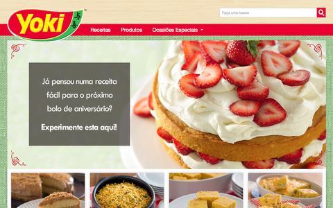 Screenshot of Home Page yoki.com.br - Yoki - Promo‹o Sal‡rio de M‹e - captured Nov. 12, 2015