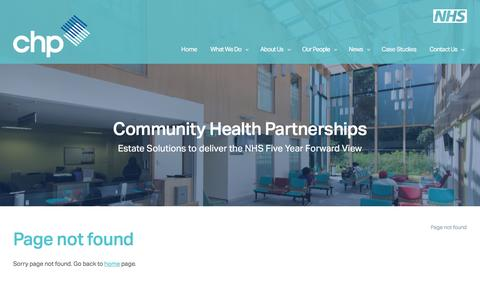 Screenshot of FAQ Page communityhealthpartnerships.co.uk - Page not found - captured Dec. 10, 2015