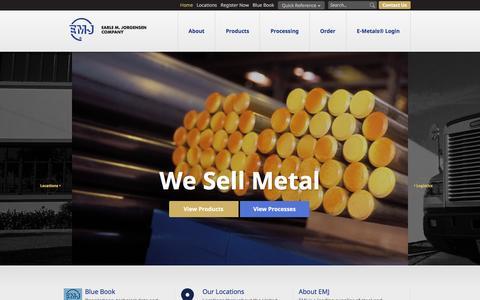 Screenshot of Home Page emjmetals.com - EMJ - captured Jan. 23, 2016