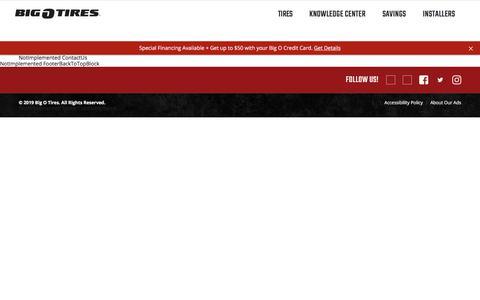 Screenshot of Contact Page bigotires.com - Contact Us   Tire America - captured July 19, 2019