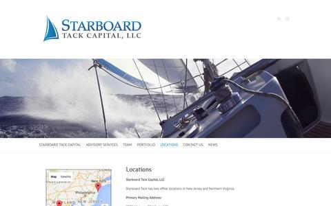 Screenshot of Locations Page starboardtackcap.com - Locations - Starboard Tack Capital, LLC - captured Feb. 25, 2016