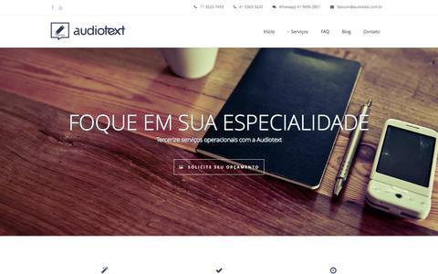 Screenshot of Home Page audiotext.com.br - Audiotext Início - Audiotext - captured Aug. 2, 2015